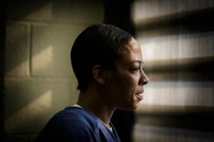 India, 42, suffers from manic depression and post-traumatic stress disorder. She has spent almost all of her adult life in jails and prisons. John Gress for The New York Times