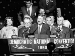 JFK's New Frontier speech at 1960 DNC national convention